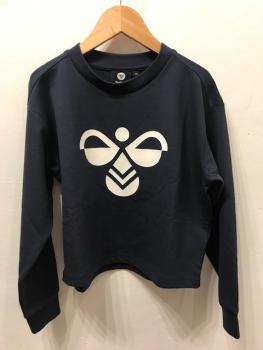 Hummel Logo-Sweater navy